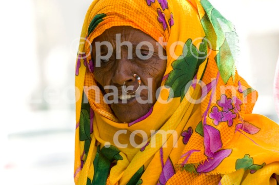 Local Woman, Port Sudan Market, Sudan, Africa