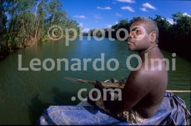 Australia, Northern Territory, aborigine fishing on river (79-5) JPG copy