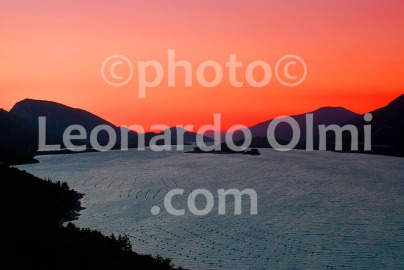 Sunset at Ston gulf, Croatia