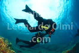 Technical divers on Teti shipwreck, Vis island, Komiza, Croatia