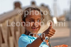 Egypt, Dahab, young girl