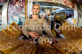 Nuts Shop, Clerk Selling, Aqaba City, Jordan