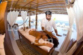 Maldives, customer on Liveaboard haveing a massage DSC_8847 JPG copy