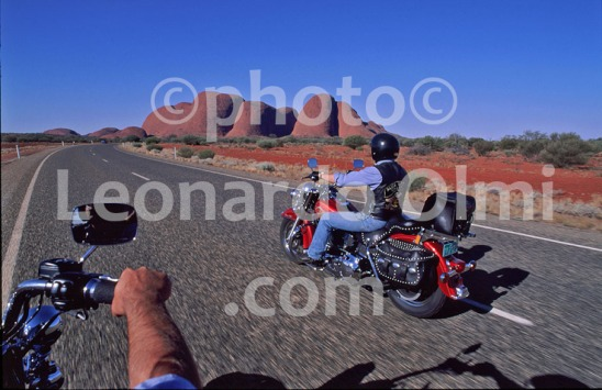 Motorcycle, Northern Territory,Harley Davidson and The Olgas (22-6) JPG2 copy