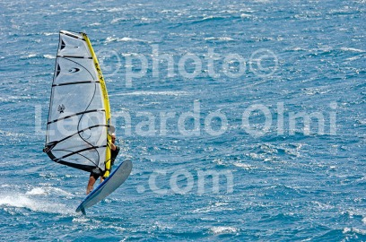 Windsurf at Bol town, Brac island, Croatia