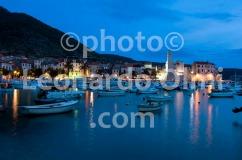 Croatia, Vis island, Komiža, boats and fortress at dusk DSC_0888 TIF copia copy
