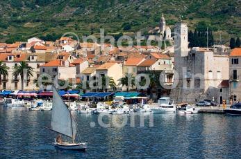 Croatia, Vis island, Komiža, tipical sail boat, fortress DSC_6281 TIF copia copy