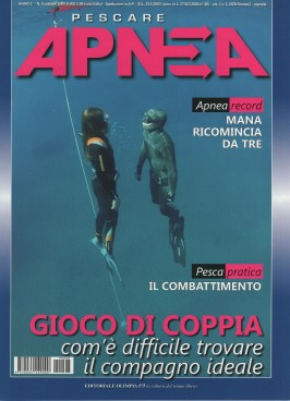 Apnea, October 2009, cover by Leonardo Olmi