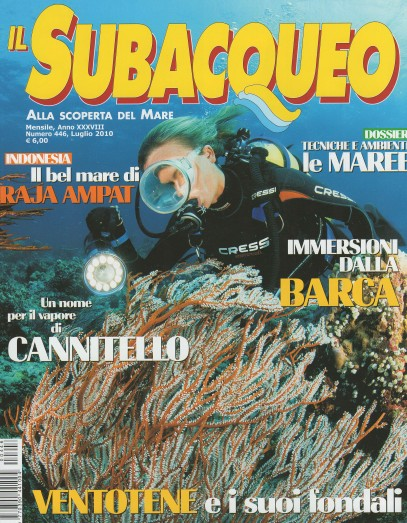 Il Subacqueo, July 2010, cover by Leonardo Olmi