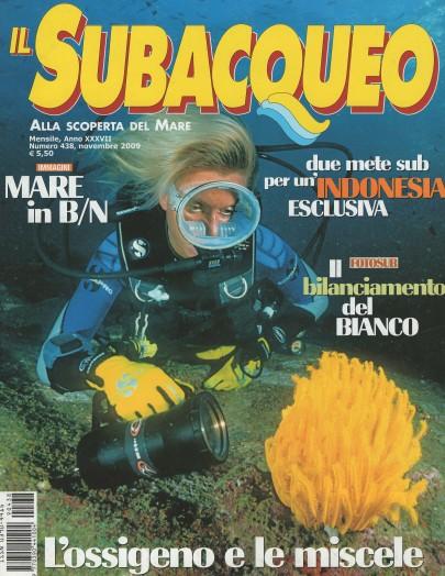 Il Subacqueo, November 2009, cover by Leonardo Olmi